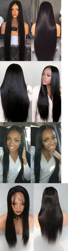 Wigs and Hairpieces: Front Lace Wig Full Wigs 100% Virgin Brazilian Human Hair Wigs Silky Straight -> BUY IT NOW ONLY: $214.88 on eBay!