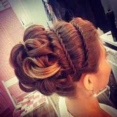 Twisted up do.