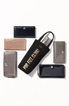Love! Gorgeous Kate Spade glitter wallets.