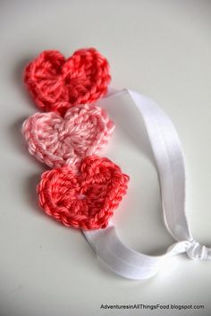 Adventures in all things food: Crochet Heart Headband #TBCCrafters