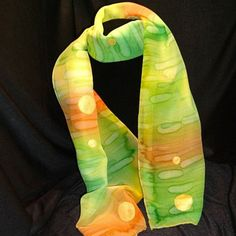 hand-dyed chiffon silk scarf by Donna Marchetti Design on Opensky