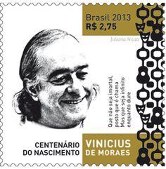 Emissão Comemorativa – Centenário do Nascimento de Vinicius de Moraes Artista: Juliana Souza Data: 20 de Novembro de 2013