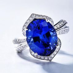 December's birthstone is Tanzanite. Kat Florence cut this Tanzanite after it was discovered in the foothills of Mount Kilimanjaro in Tanzania. Beautiful Ring!