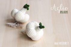 Amigurumi school online: esquema para el ajo amigurumi.