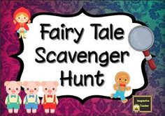 Fairy Tale Scavenger Hunt - Imaginative Teacher, for teaching resources, printable worksheets, classroom displays and Fairy Tale Crafts, Fairy Tale Theme, Traditional Tales, Traditional Stories, School Scavenger Hunt, Scavenger Hunts, Library Games, Fairy Tale Activities, Fractured Fairy Tales