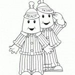 Bananas In Pyjamas Coloring Pages