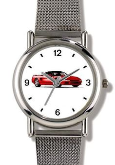 WATCHBUDDY WATCHES are the World's Most Lovable Theme Watches, they combine beauty, style and grace with functionality. Our WATCHBUDDY ELITE watch model has a clean, ultra-sleek Scandinavian-Danish design. A precision quartz crystal movement with three hands – hour, minute and second.... more details available at https://perfect-gifts.bestselleroutlets.com/gifts-for-teens/outdoor-clothing/product-review-for-classic-red-sports-car-no-1-watchbuddy-elite-chrome-plated