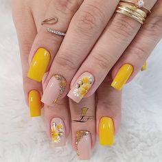 Cute Acrylic Nails, Toe Nail Art, Fall Nail Art Designs, Fire Nails, Short Nails Art, Floral Nail Art, Sexy Nails, Square Nails, Creative Nails
