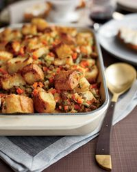 Sausage and Bread Stuffing // More Quick Side Dishes: http://www.foodandwine.com/slideshows/quick-side-dishes #thanksgiving #foodandwine