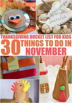 Our Kids Bucket List continues to grow this year with 30 Things to Do in November with the kids! This fun list of kid friendly activities will keep you busy all month long! It's a great Thanksgiving Bucket List for the whole family!