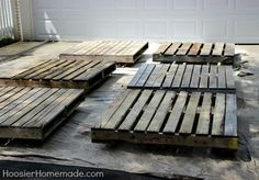 how to build a wood pallet deck, decks, diy, outdoor furniture, pallet, repurposing upcycling, woodworking projects