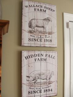 I love me some french country signs! Making my own for the farm soon!