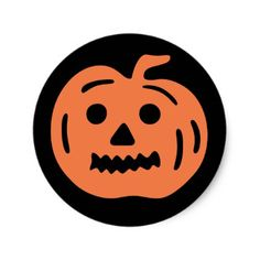 Jack O Lantern Halloween Stickers - craft supplies diy custom design supply special