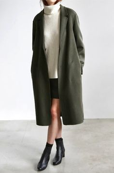 Oversized Coat | Khaki | Women's Fashion | Casual outfit | Outfit Inspiration