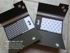"""Fun Fold Graduation Card made from one sheet of 8-1/2""""x11"""" card stock! - Stampin' Up!® - Stamp Your Art Out! www.stampyourartout.com"""