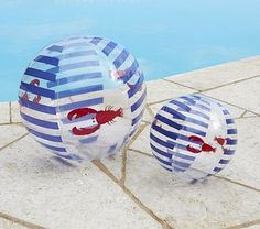 Oh yeah some Navy Lobster Beach Balls #PotteryBarnKids