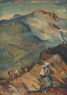Martin Benka - Motív z Oravy, 1935-1940