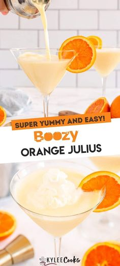 Easy Drink Recipes, Best Cocktail Recipes, Punch Recipes, Fun Cocktails, Party Drinks, Orange Julius, Orange Creamsicle, Cocktail Making, Key Ingredient