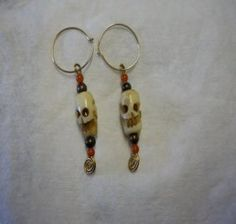 These totem pole earrings are unique and one of a kind. The totem head is similar to a skull head and can be worn as such if you so desire. They are perfect for when you want that unique pair of earrings to show off to others.  $14.95