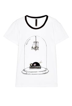 Embellished Bell Jar T-Shirt by Mother of Pearl