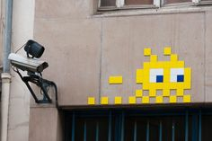 Paris street art by the French artist Invader