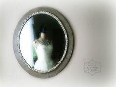 O V A L Vintage Shabby Chic Mirror French Country Nursery Vanity