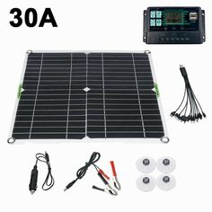 """Specification: Material: Monocrystalline Silicon Colour: Black Solar Panel Dimension:28 x 28 x 0.2cm/11 x 11 x 0.08"""" Voltage: 12V Charging Time: 2 H Open Circuit Voltage (VOC): 5V Short Circuit Current (ISC): 3A Maximum power supply voltage: 6V Short circuit current: 2A Junction box: IP67 RETED Working temperature: -40℃+85℃ Type: With Controller Battery Board Specification: High Efficiency Single Crystal Board Waterproof Rating: IP65 Features: - Scratch resistant, non foaming, easy to clean. - I Cheap Solar Panels, Best Solar Panels, Solar Panel Kits, 12v Solar Panel, Solar Battery Charger, Facing The Sun, Low Lights, Electrical Equipment, Solar Power"""