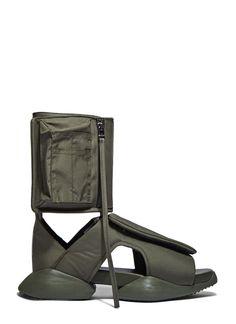huge discount b4707 ca4b7 RICK OWENS X Adidas MenS Velcro Strap Ro Cargo Sandals In Khaki.  rickowens shoes