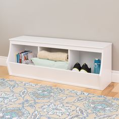 Add versatile, yet stylish storage to any room with the Stackable 3-bin Storage Cubby. This unit features three compartments that offer ample storage space for all of your household items.
