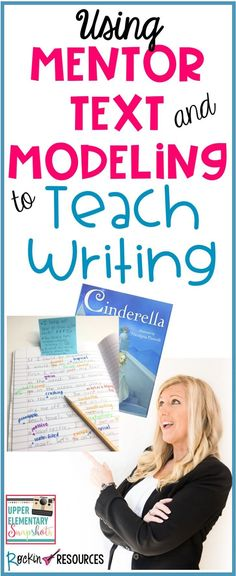 Most writing curriculums encourage teachers to use mentor text and modeling in their writing workshop. Because they are effective instructional strategies that promote student engagement and give students powerful tools to apply in their own writing. Writing Mentor Texts, Mentor Sentences, Writing Strategies, Informational Writing, Persuasive Writing, Writing Lessons, Writing Ideas, Teaching Strategies, Teaching Ideas