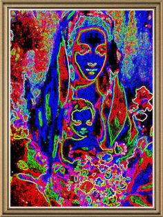 5 x 7 high quality digital print. With certificate of authenticity from Crazy Wisdom Divine. Saint Anne, Madonna And Child, Ethereal, Digital Prints, Saints, Children, Painting, Art, Fingerprints