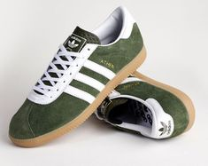 Adidas Athen trainers return in Forest Green suede Adidas Zx, Adidas Samba, Adidas Sneakers, Popular Sneakers, Sneakers Style, Adidas Busenitz, Adidas Spezial, Clothes, Sneakers