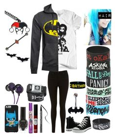 """Style #216"" by katlanacross ❤ liked on Polyvore featuring Miss Selfridge, Converse, Kat Von D and TheBalm"