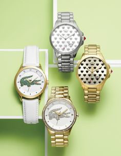 Is your mom's style super preppy? Then an iconic Lacoste watch is her perfect gift. For trendier mammas, a fun heart-covered timepiece is totally her cup of tea.