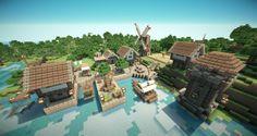 Small coastal medieval village Minecraft medieval Minecraft medieval village Minecraft