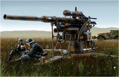 German .88mm gun