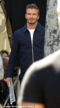 David Beckham continues filming new H&M advert on the streets of Lisbon | Daily Mail Online