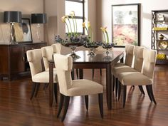 Boulevard Dining Room Set with 4 Aventura Dining Chairs via @Cort Furniture