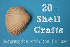 Shell crafts should DEFINITELY be part of any Summer!!!