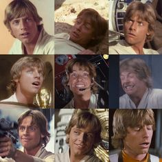 Son of Skywalker - . The Many Wonderful Faces of Luke Skywalker Mark Hamill Luke Skywalker, Star Wars Luke Skywalker, Anakin Skywalker, Star Wars Cast, Wolf, Memes, Star War 3, A New Hope, Star Wars Humor