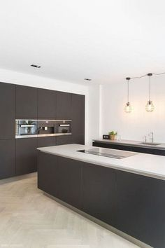 What Is Hot On Pinterest: Kitchen Modern Décor Kitchen Buffet, Home Decor Kitchen, Kitchen Furniture, Kitchen Cabinets, Kitchen Flooring, Furniture Stores, Cupboards, Kitchen Backsplash, Best Kitchen Designs
