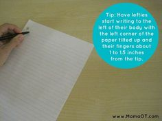 Tips for Teaching Left Handed Children to Write - I wish I had found this when Benji was started writing.