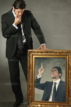 Realistic Graphic DOWNLOAD (.ai, .psd) :: http://jquery-css.de/pinterest-itmid-1006567719i.html ... Elegant man and his conscience in a paint ...  abstract, awareness, blame, conceptual, dreamlike, himself, man, mirror, paint, reproach, stress, surreal, think, weird, worried  ... Realistic Photo Graphic Print Obejct Business Web Elements Illustration Design Templates ... DOWNLOAD :: http://jquery-css.de/pinterest-itmid-1006567719i.html