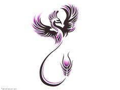 phoenix tattoo designs for women Beautiful phoenix tattoos design for girl Great Tattoos, Trendy Tattoos, Beautiful Tattoos, Body Art Tattoos, Girl Tattoos, Tattoos For Women, Tattoo Women, Simple Tribal Tattoos, Girl Tribal Tattoos