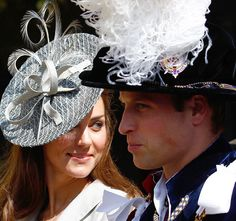 William and Kate at the annual Order of the Garter(Knighthood) Service yesterday.
