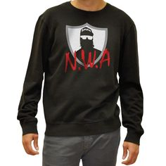 FANPAC — NWA Compton Men's Vintage Washed Black Sweat