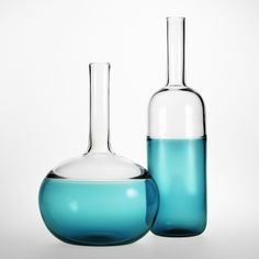 H2O Condesa Vessel/ Condesa Bottle #customdesigned & #handmade in NY for #charitywater   Visit Nichemodern.com for more info <3