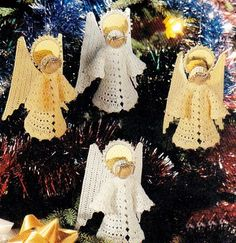 "Female Profession: Christmas Special: Work on hook ""Angels Christmas Crochet Christmas Ornaments, Christmas Crochet Patterns, Angel Ornaments, Christmas Bells, Christmas Knitting, Christmas Angels, Christmas Tree Ornaments, Christmas Crafts, Crochet Angel Pattern"