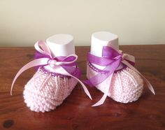 Ballerina Shoes Ballet Shoes Pink Baby Shoes Baby by Pinknitting
