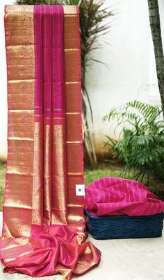 Lakshmi Handwoven Kanjivaram Silk Sari 1000239 - Sari / Kanjivarams - Parisera
